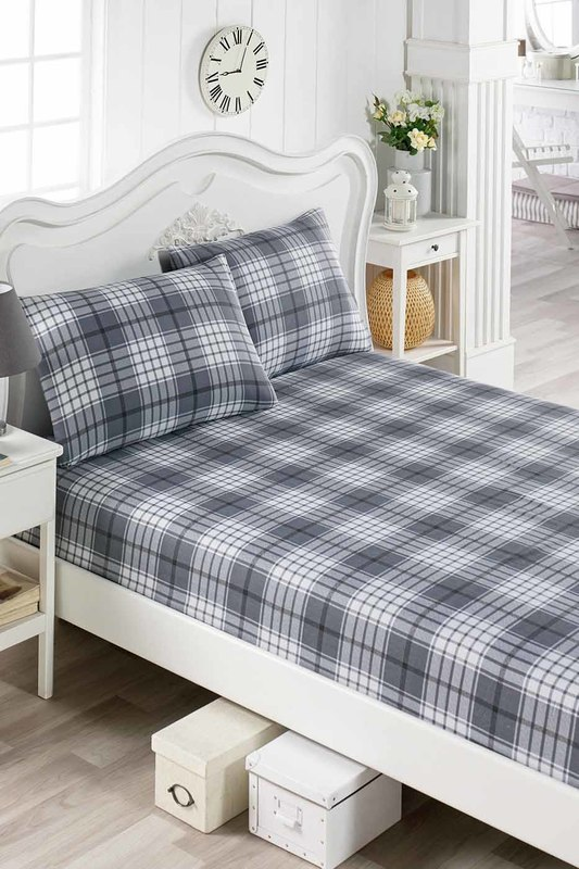 Double Sheet Set ENLORA HOME Double Sheet Set gingham print sheet set