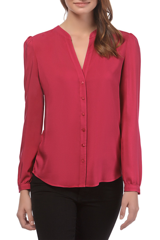 blouse Vincenzo Boretti blouse plus asymmetrical flounce shoulder peplum hem blouse