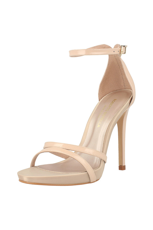 high heels sandals ROBERTO BOTELLA high heels sandals genuine leather crystal open the toe thick high heels women sandals 2016 new fashion sexy peep toe lady summer sandal shoes