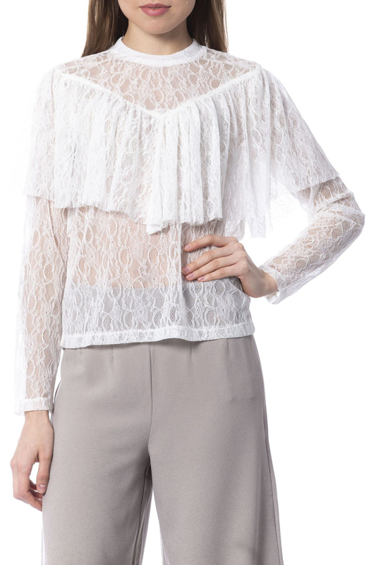 Фото - blouse Silvian Heach blouse contrast lace keyhole back blouse