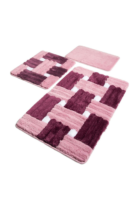 bathmat set (3 pieces) Chilai Home bathmat set (3 pieces) шарф pieces pieces pi752gwccoj3