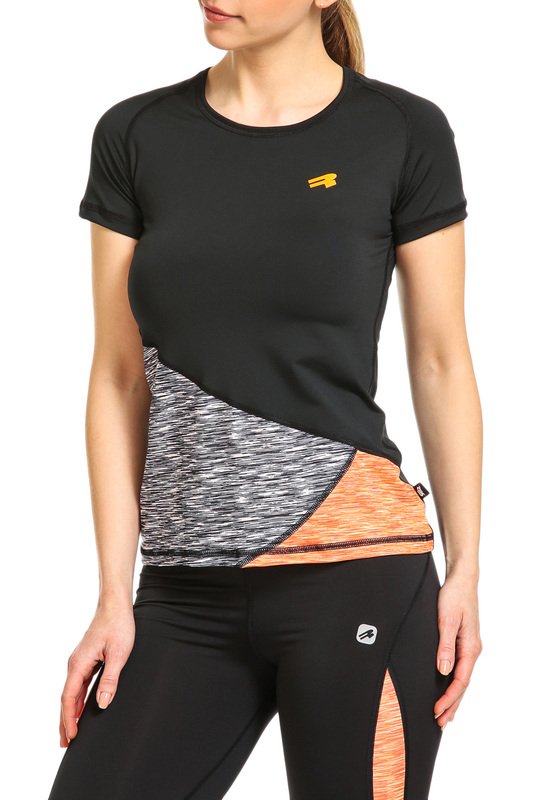 Фото - t-shirt Rough Radical цвет black, orange