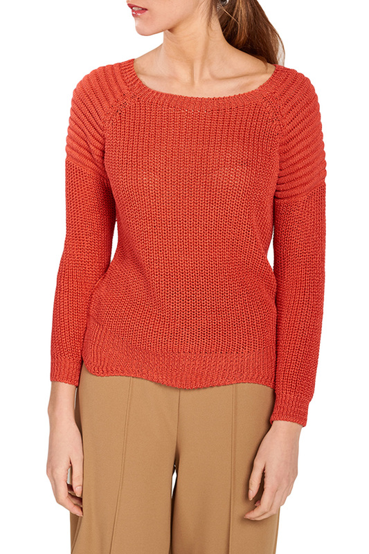 jumper DIOXIDE jumper cold shoulder basket weave jumper