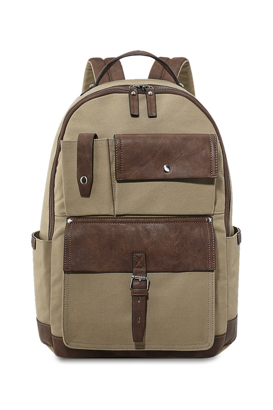 backpack Picard backpack canvas zippers argyle pattern backpack