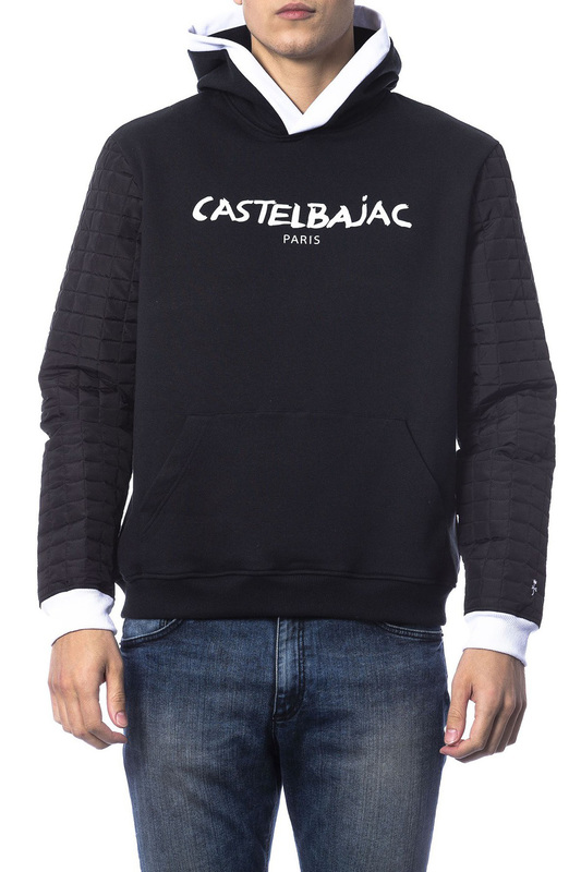sweatshirt CASTELBAJAC sweatshirt black gesture print drop shoulder sweatshirt