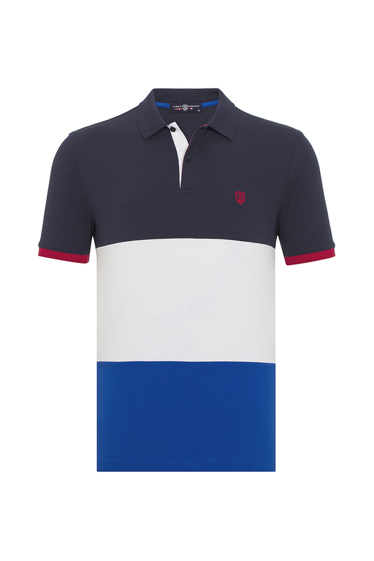 Polo t-shirt JIMMY SANDERS Polo t-shirt men polo shirt short sleeve color block patchwork ventilate polo shirt