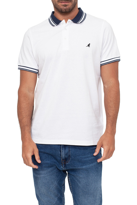 polo t-shirt KANGOL polo t-shirt letter embroidered splicing design polo collar long sleeve men s t shirt
