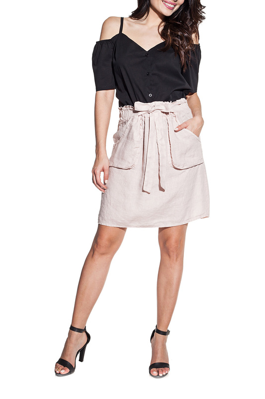 skirt Cosmo skirt knot front zip up back skirt