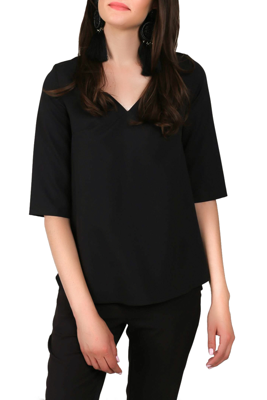 Фото 3 - blouse FOGGY цвет black