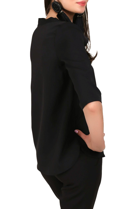 Фото 4 - blouse FOGGY цвет black