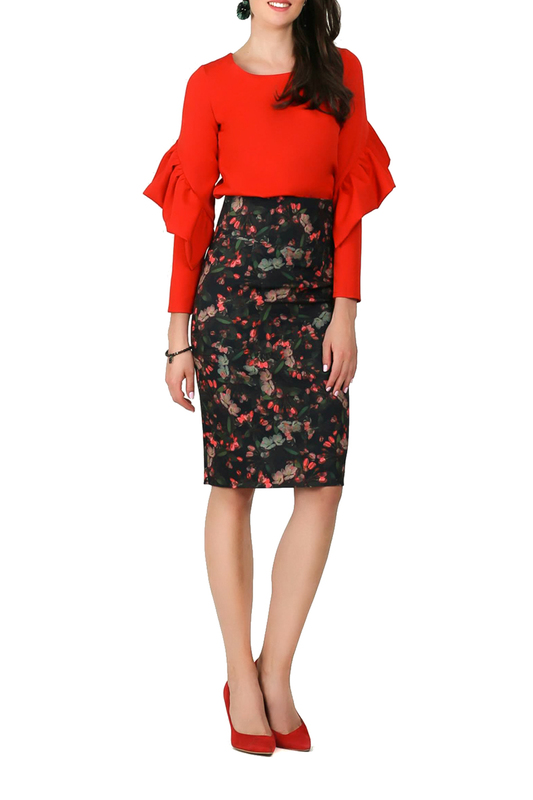 skirt FOGGY skirt knot front zip up back skirt