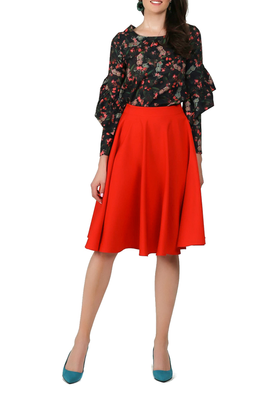 Фото 3 - skirt FOGGY цвет red