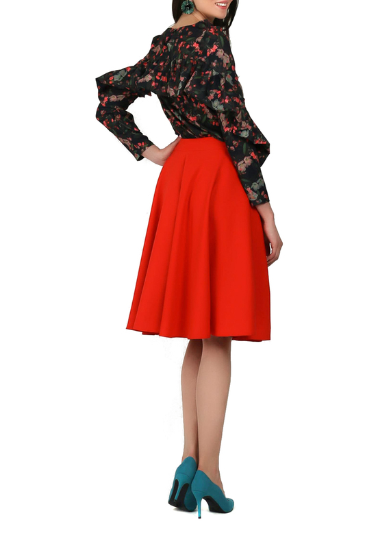 Фото 4 - skirt FOGGY цвет red