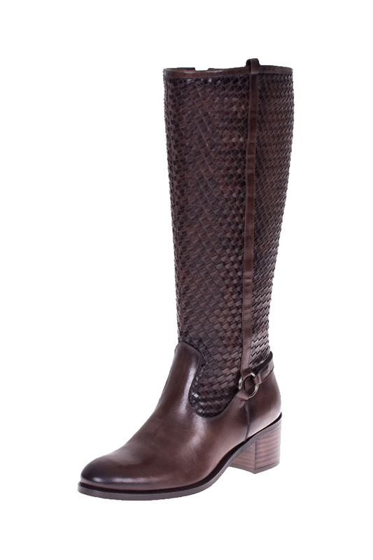 high boots ROBERTO BOTELLA high boots asumer black gray brown beige fahsion women boots round toe zipper ladies boots square heel platform buckle knee high boots