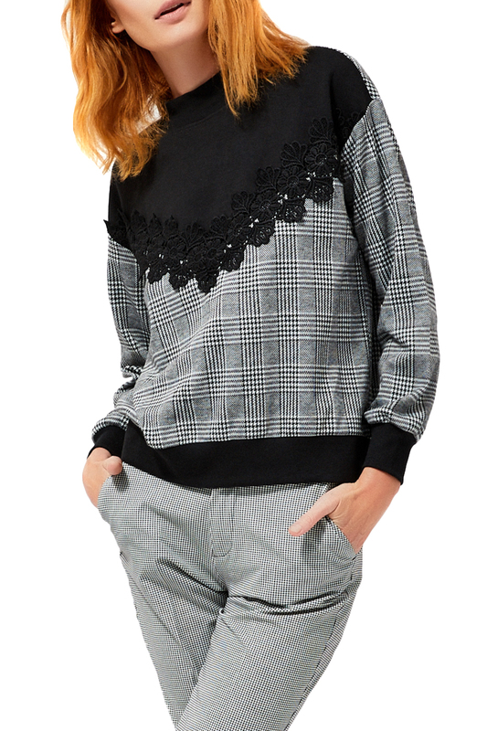 jumper MOODO jumper cold shoulder basket weave jumper