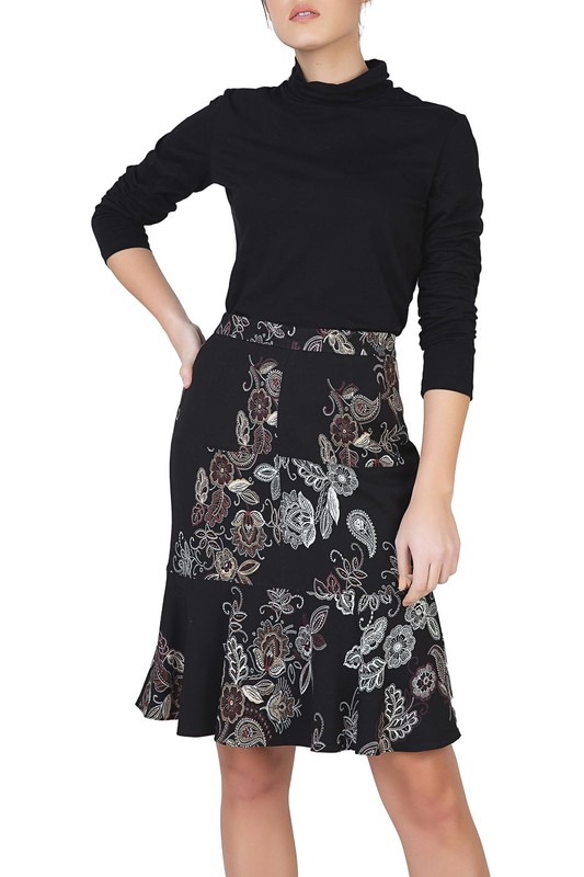 Skirt Conquista Skirt knot front zip up back skirt
