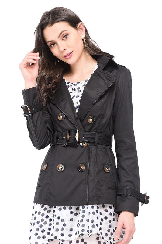 trench William de Faye trench lapel collar adjustable sleeve trench coat