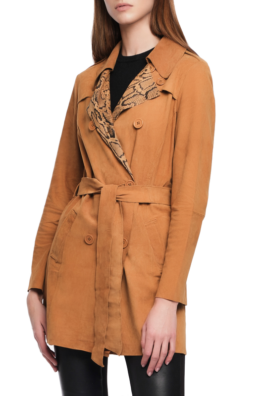 trench Giorgio trench lapel collar adjustable sleeve trench coat